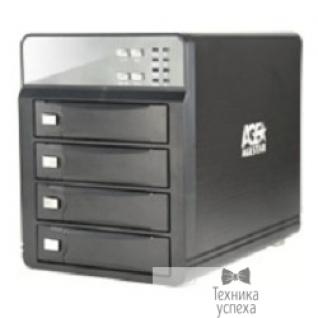 """AgeStar AgeStar <3C4B3A1> USB 3.0 Внешний корпус 4x3,5"""" SATA AgeStar 3C4B3A1 (BLACK) USB3.0+eSATA, алюминий, вентилятор, LCD, без RAID."""