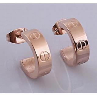 Серьги Cartier Love, розовое золото