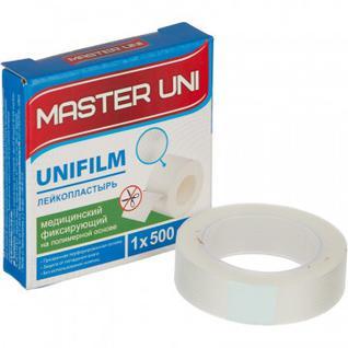 Перевяз. ср-ва Лейкопластырь 1х500см полимерный в картоне Master Uni