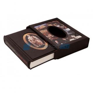"""Книга подарочная в обложке из натуральной кожи """"История человечества"""""""