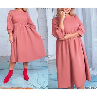 Свободное платье лайт большого размера р.50-56