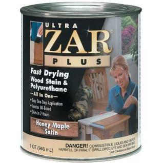 Полиуретановый лак цветной 162 ULTRA ZAR PLUS Медовый клен (Honey Maple Satin) п/мат. 0,946л., в уп. 4 шт.