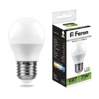 Светодиодная лампа Feron LB-95 (7W) 230V E27 4000K G45