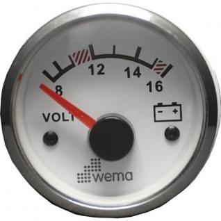Wema Вольтметр 12 В Wema IPVR-WS-8-16 8 - 16 В 52 мм