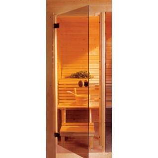 Дверь Бронза 7х19, коробка - сосна, ручка круглая, стекло 6мм (АКМА)