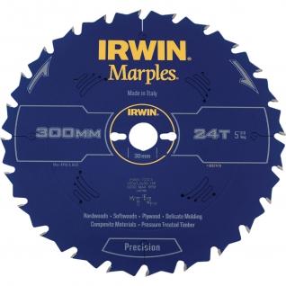 Диск пильный Irwin MARPLES Precision 305x2,5х96Tx30 мм по дереву, алюминию, пластику, ДСП