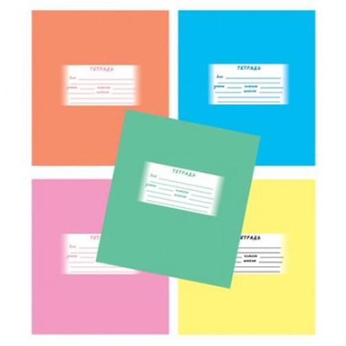 Тетрадь школьная А5,12л,линия Однотонная, 5цветов ТШ12К605 37874115 1
