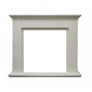 Каминный портал Фортуна белый