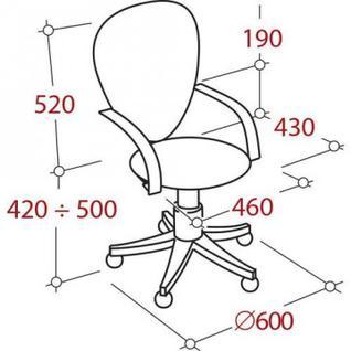 Кресло VT_EChair-304 TC Net ткань черн/сетка желтая, пластик