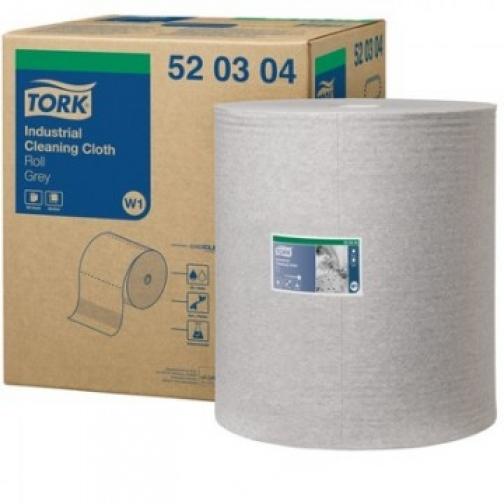 Материал протирочный нетканый Tork W1/W2/W3 950лx1рул/кор, серый 520304 37862918
