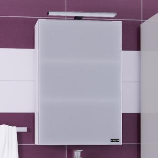 Зеркало-шкаф СанТа Стандарт 45 фацет, свет