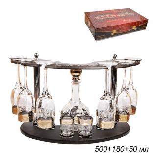 БАР набор для напитков 13 предметов Барокко / 01/160/22 ГН /уп1/ графин+6 бокалов+6 стопок