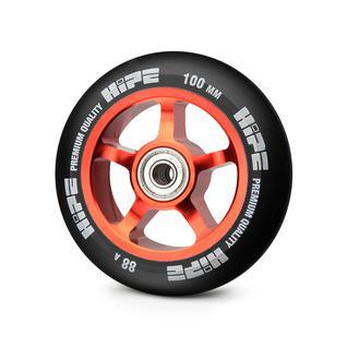 Колесо Hipe 5-spoke 100mm, красный/черный