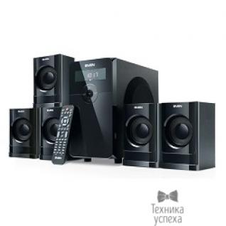 Sven SVEN HT-200 черный 5.1, 5х 20Вт + 12Вт , FM-тюнер, USB/SD, дисплей, пульт ДУ