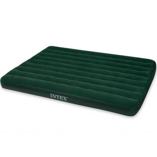 Надувной флокированный матрас Intex