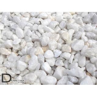 Щебень мраморный белый фр. 10-20мм (1 тонна)