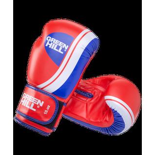 Перчатки боксерские Green Hill Knockout Bgk-2266, 8oz, к/з, красный