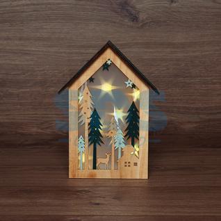 Neon-Night Деревянная фигурка с подсветкой «Домик в лесу» 19х6х26 см