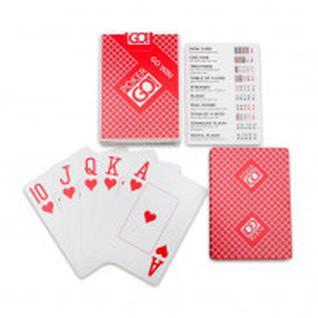 Карты игральные серия PokerGo red index jumbo 54 шт/колода ИН-9064