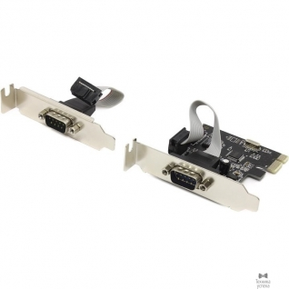 Espada Espada Контроллер PCI-E, 2S port, WCH382, модель PCIe2SLWCH, low profile, oem (41664)