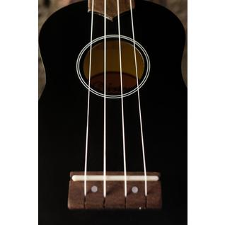 Укулеле - гавайская гитара, сопрано, Veston KUS-15BK, чёрная KUS 15 BK