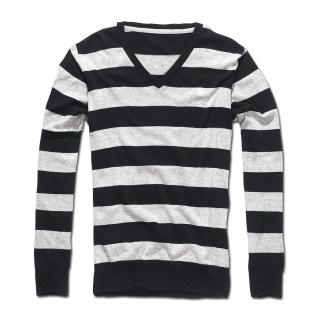 Brandit Пуловер Brandit London черно-серого цвета