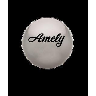 Мяч для художественной гимнастики Amely Agb-101, 15 см, серый