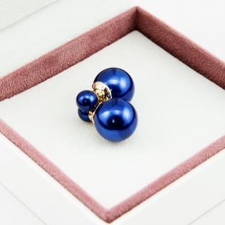"""Серьги шарики Mise en Dior """"Темно-синие"""""""