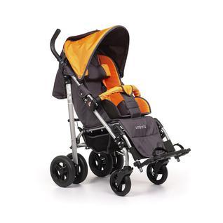 АРМЕД Кресло-коляска для детей-инвалидов и детей с заболеваниями ДЦП с принадлежностями: VCG0C UMBRELLA NEW (пневмо, оранжевый-серый)