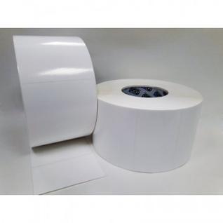 Термотрансферные этикетки полипропилен 100х60мм, 3000шт в рул 6 рул/уп