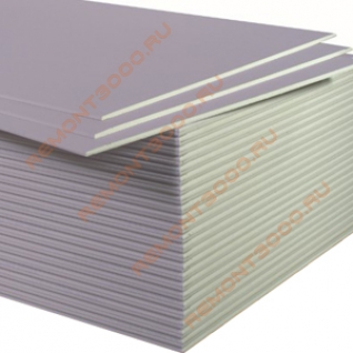 КНАУФ Сапфир гипсокартон акустический огневлагостойкий 2500х1200х12,5мм (3,0м2) / KNAUF Сапфир гипсокартонный лист звукозащитный влагоогнестойкий 2500х1200х12,5мм (3,0 кв.м.) Кнауф