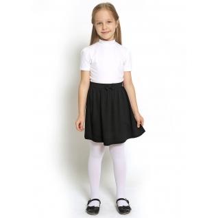 Джемпер для девочки с коротким рукавом, цвет белый, размер 30