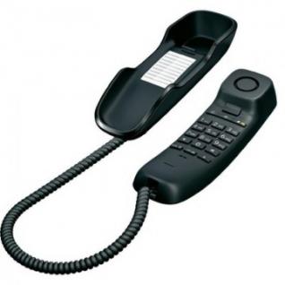 Телефон Gigaset DA210 black,redial,память 10 ном.,регул.гром.звонка