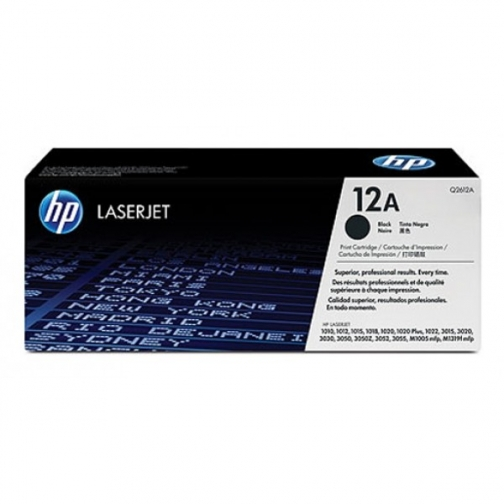 Картридж Q2612A №12A для HP LJ 1010, 1018, 1020, 3015, 3020, 3030, 3050, M1005, M1319 (чёрный, 2000 стр.) 731-01 Hewlett-Packard 852590 1