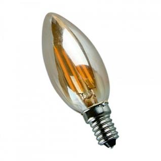 Elvan E14-5W-3000K Лампа LED (Свеча золото Филомент)
