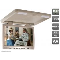 """Потолочный автомобильный монитор 15,6"""" со встроенным медиаплеером AVIS Electronics AVS115 (бежевый) Avis"""