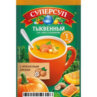 """Русский продукт Суперсуп-пюре Суперсытный момент. """"Тыквенный с сухариками"""" 20 г"""