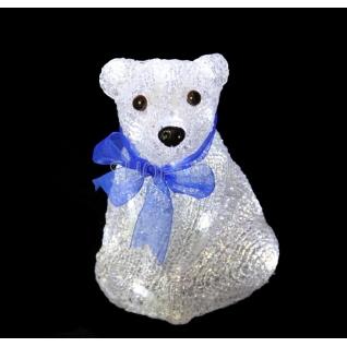 """Neon-Night Акриловая светодиодная фигура """"Белый мишка"""" 20 см, 4,5 В, 3 батарейки AA (не входят в комплект), 20 светодиодов, NEON-NIGHT"""