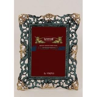 """Фоторамка из бронзы """"Венеция"""" средняя, цвет синий с золотом (размер фото 10х15)"""