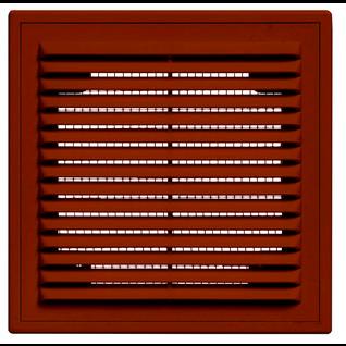 Решетка вентиляционная вытяжная 210*210 с рамкой коричневая серия ВР Виенто
