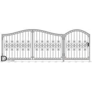 Кованые ворота калитка В-007 (кв.м)