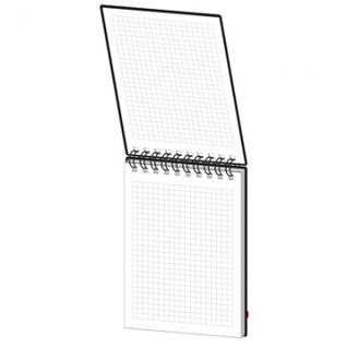 Блокнот Simplex 13,А6,100л,100х140,пластик, на резине, клетка,0013