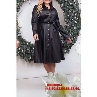 Кожаное платье большого размера р.48-60