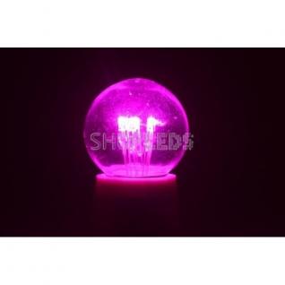 Neon-Night Лампа шар e27 6 LED ∅45мм - розовая, прозрачная колба, эффект лампы накаливания