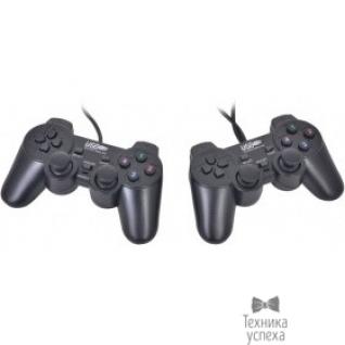 3Cott 3Cott GP-02 черный USB 3Cott-GP-02B Геймпад Двойной, 12 кнопок, вибрация