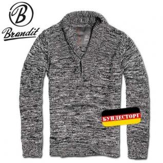 Пуловер лесника Brandit Mountain, цвет черно-серый