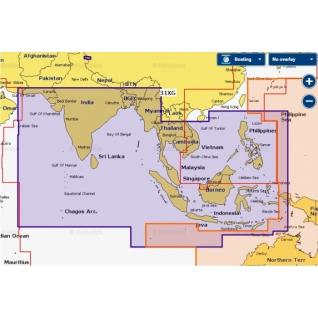Карта Navionics+ Индийский океан и Южно-Китайское море (31XG)
