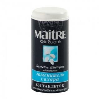 Сахарозаменитель Maitre de Sucre 650 шт/уп.