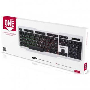 Клавиатура Smartbuy ONE 333 USB бело-черная (SBK-333U-WK)