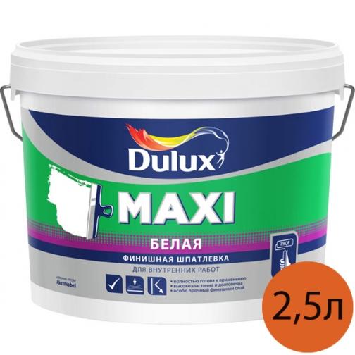 DULUX Макси шпатлевка мелкозернистая для внутренних работ (2,5л) / DULUX Maxi шпаклевка мелкозернистая белая для внутренних работ (2,5л) 36984039